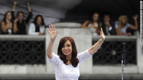 Argentine President Cristina Fernandez de Kirchner dances during the inauguration of the 132nd period of ordinary sessions of the Congress in Buenos Aires, Argentina on March 1, 2014. AFP PHOTO / Juan Mabromata        (Photo credit should read JUAN MABROMATA/AFP/Getty Images)