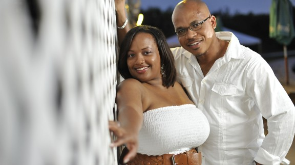 Marsha and Lenny Spence married in 2011, six years after they met on a plane.