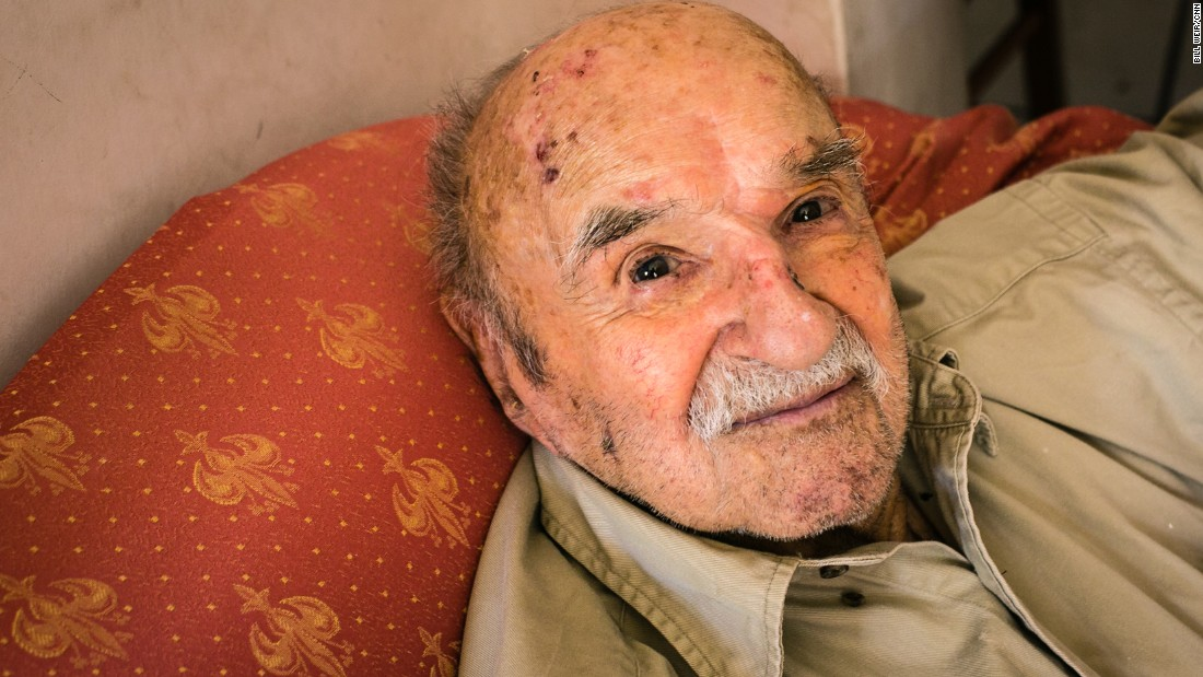 "Konstantinos Spanos, 101, says the key to long life is modesty in everything, including ""food, women and entertainment."" He reads five hours a day."