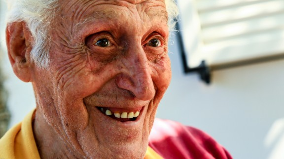 Chistodoulos Poris, 94, describes a recent party he attended until 5 a.m.