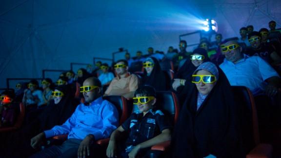 Moviegoers at Baghdad