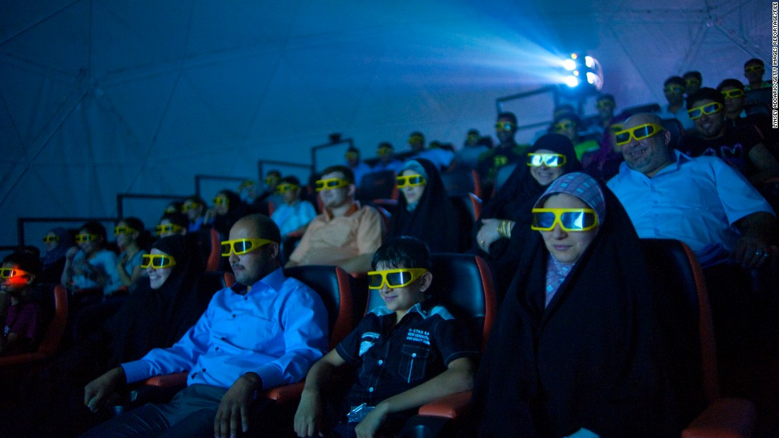 Moviegoers at Baghdad's first 4-D cinema get an extra thrill from shaking seats and wind machines during a 3-D sci-fi film. During the worst years of violence, families stayed home to watch TV or DVDs. Most cinemas closed, as did this one, though it has plans to expand and reopen.