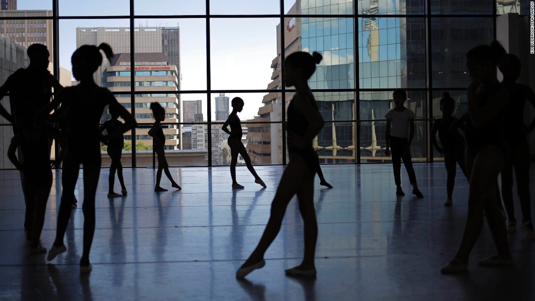 Young children from poor townships in Johannesburg take part in a special training program at the Joburg Ballet on Monday, February 2.