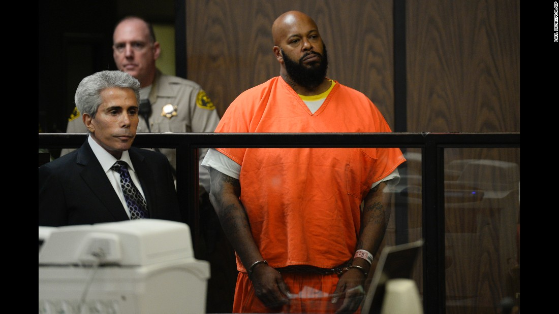"<a href=""http://www.cnn.com/2015/01/30/entertainment/gallery/suge-knight/index.html"" target=""_blank"">Former rap mogul Marion ""Suge"" Knight</a> is joined by his attorney, David Kenner, during his arraignment Tuesday, February 3, in Compton, California. Knight pleaded not guilty after he was charged in connection with a hit-and-run incident that left one man dead and another injured."