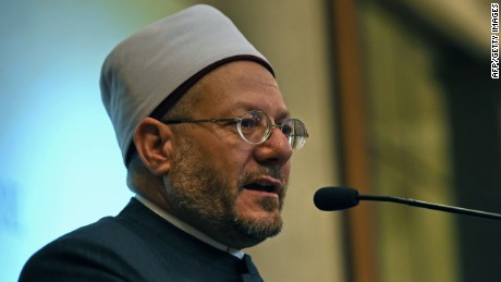 Sheikh Shawki Allam, the Grand Mufti of Egypt, delivers his speech at the Islamic Religious Council of Singapore (MUIS) in Singapore on January 26, 2015. Egypt's top Muslim cleric said January 26 the Islamic State group, which has sown a trail of terror across parts of the Middle East, should not even use that term because it is not justified by the religion. AFP PHOTO / ROSLAN RAHMANROSLAN RAHMAN/AFP/Getty Images