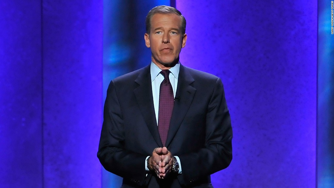 """NBC Nightly News"" anchor Brian Williams admitted in 2015 he wasn't aboard a U.S. military helicopter that was struck by a rocket-propelled grenade in Iraq. Williams said he ""made a mistake in recalling the events of 12 years ago"" and apologized. In a statement released by NBC on Saturday, February 7, Williams said he will be taking himself off the air for several days. ""It has become painfully apparent to me that I am presently too much a part of the news, due to my actions."""