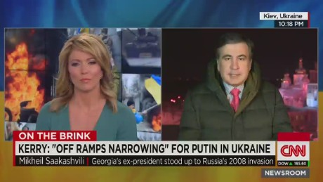 Saakashvili: Putin 'only understands shear force'