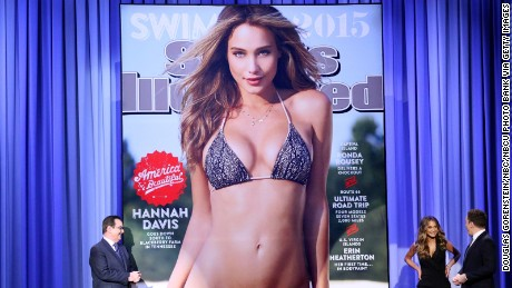 "Hannah Davis and Jimmy Fallon reveal the Sports Illustrated swimsuit issue cover on ""The Tonight Show."""