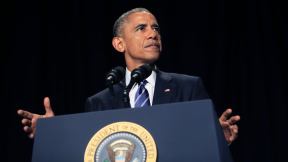 U.S. President Barack Obama speaks during the National Prayer Breakfast February 5, 2015 in Washington, DC. Obama reportedly spoke about groups like ISIS distorting religion and calling the Islamic terror group a 'death cult.'