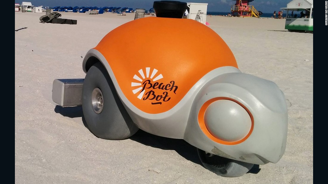 Disney's newest robot is designed to bring characters to life on beaches.