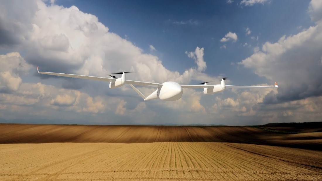The Transition UAV by researchers at Germany's Quantum Systems, is designed as an agricultural solution. The drone evaluates crop conditions, monitoring their health and devising a fertilization strategy. It then feeds back this information to farmers, who will know exactly the right information about of water and nutrition their crop requires for optimal growth. <br />Its name derives from the drone's propellers. The drone lifts off like a helicopter, but once in the air the front propellers pivot forward 90 degrees, the drone then flying like a conventional airplane. This improves efficiency and increases its range greatly, the engineers claiming it can travel up to 500km.<br />