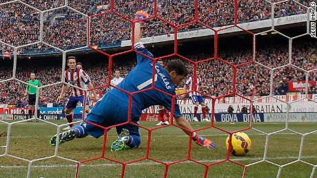 Real Madrid goalkeeper Iker Casillas made the error that set Atletico on their way to a 4-0 derby day rout.
