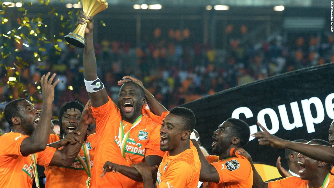 The triumphant Ivory Coast team ended a long wait to get their hands on African football's most prestigious trophy.