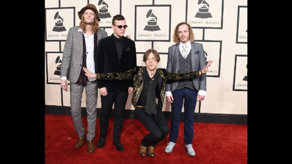From left, Daniel Tichenor, Brad Shultz, Matt Shultz and Jared Champion of Cage the Elephant