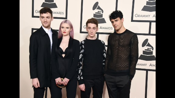 From left, Jack Patterson, Grace Chatto, Luke Patterson and Milan Neil Amin-Smith of Clean Bandit