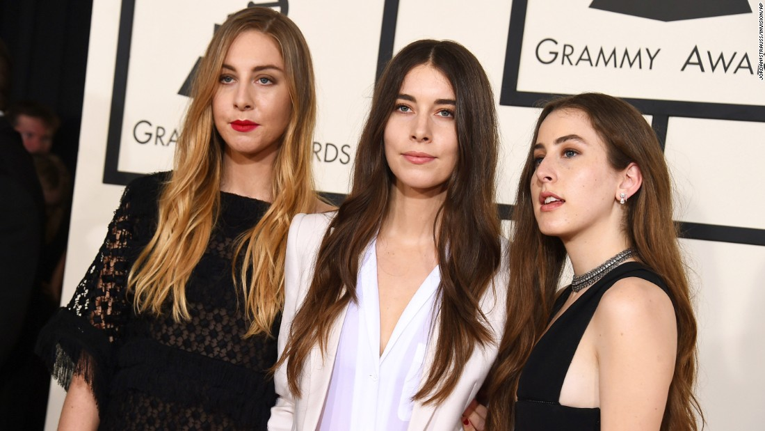 From left, Este Haim, Danielle Haim and Alana Haim of Haim