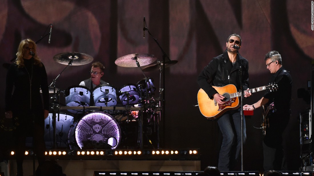 "Eric Church sings ""Give Me Back My Hometown."""
