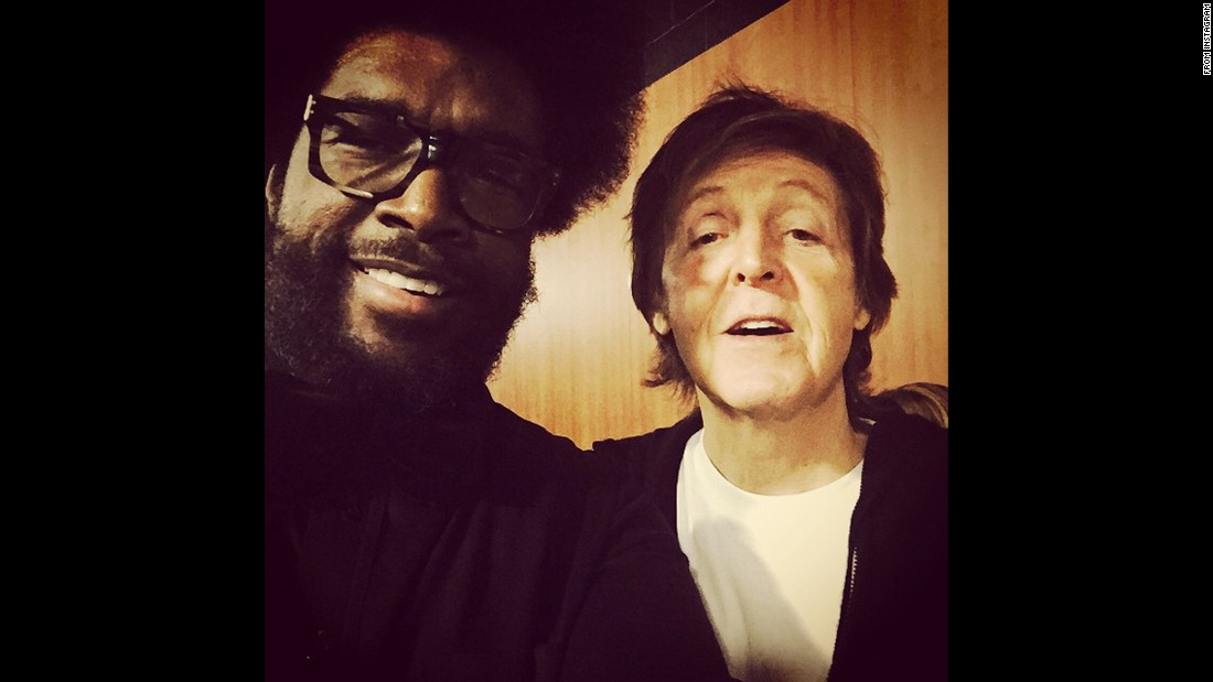 "Questlove and ""his pal Paul"" share a frame."
