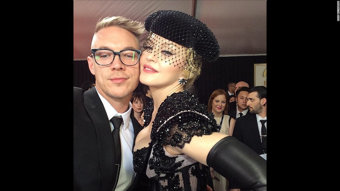 Diplo and Madonna share a moment.