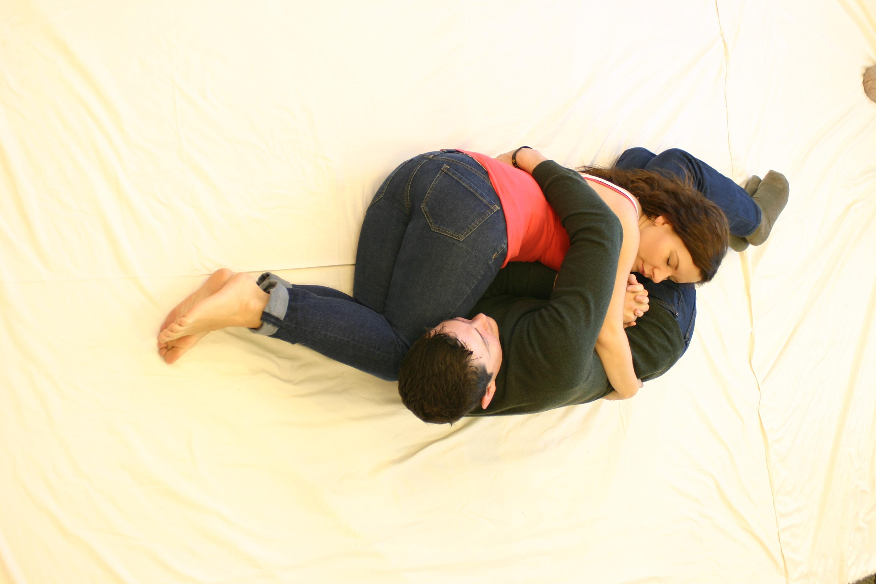 Comfortable cuddling positions