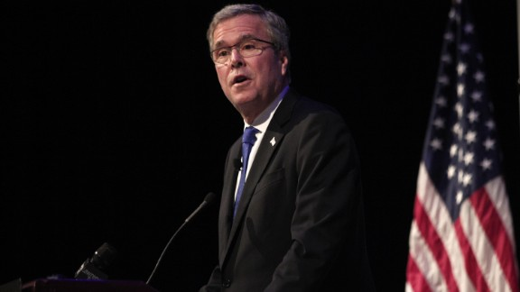 DETROIT, MI - FEBRUARY 4: Former Florida Governor Jeb Bush speaks at the Detroit Economic Club February 4, 2015 in Detroit, Michigan. Bush, the son of former republican President George H.W. Bush and the brother of former republican President George W. Bush, is considering becoming a republican candidate for the 2016 presidential election.