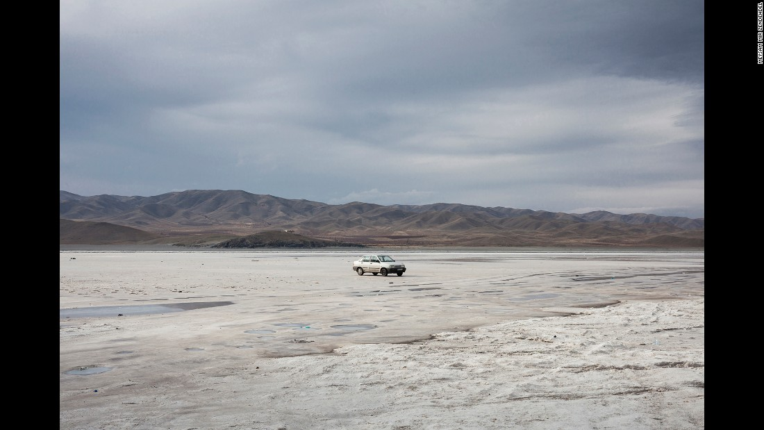 Iran's Lake Urmia used to be the largest lake in the Middle East. But the salt lake has shrunk by two-thirds since 1997.