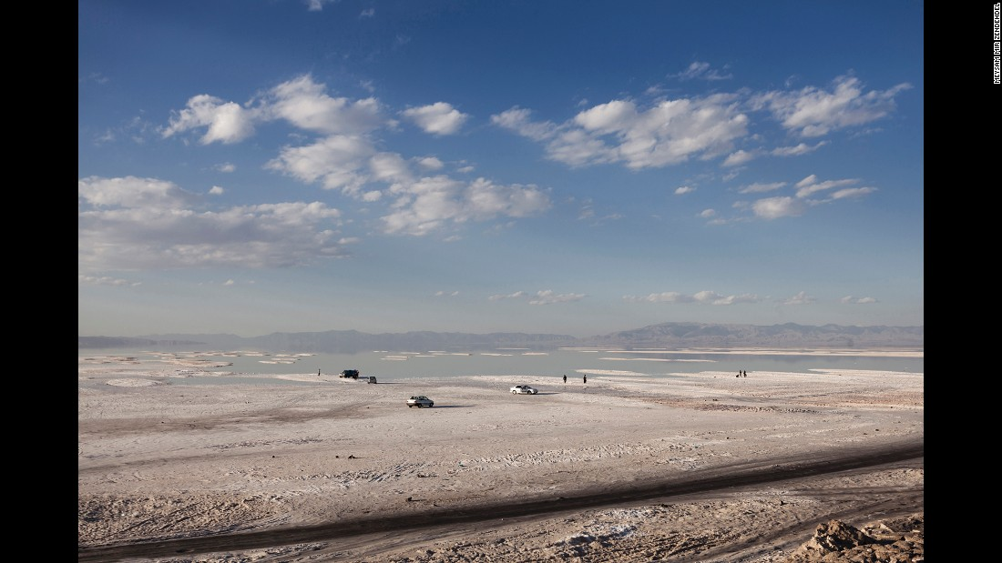 "Bleak and austere, the atmosphere at Lake Urmia appears completely desolate. ""After seeing it, I found it an environmental and social disaster,"" Zendehdel said. ""It was a tragedy."""