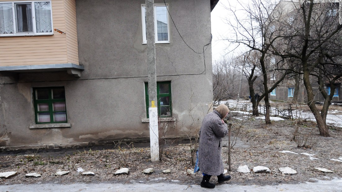 Most Debaltseve residents have fled to government-controlled towns, but many of the elderly remain.