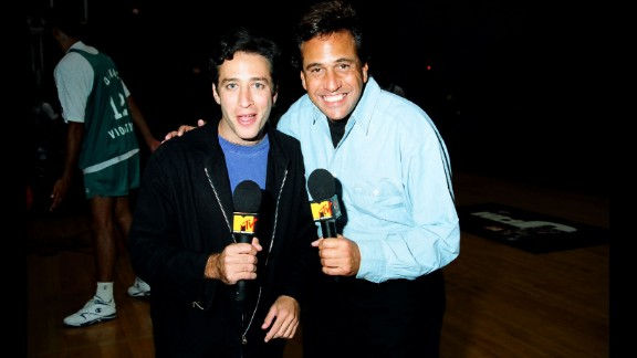Stewart soon caught the attention of MTV executives. In 1993, he co-hosted the network's Third Annual Rock N' Jock B-Ball Jam.