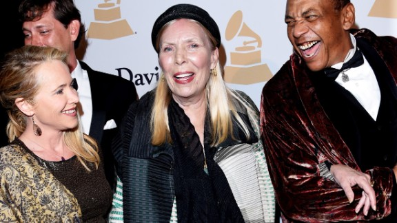 "Canadian singer-songwriter Joni Mitchell, center, told New York magazine in 2015 that she's appeared as a black man on one of her album covers. ""I really feel an affinity because I have experienced being a black guy on several occasions."""