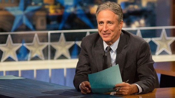 "Jon Stewart, whose wit has defined ""The Daily Show"" for more than 15 years, will sign off the iconic Comedy Central program on Thursday, August 6. Here's a look at some memorable moments of Stewart's storied career."