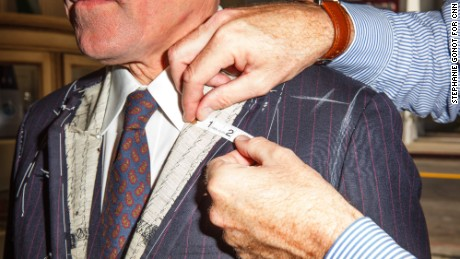 Bespoke tailoring takes a four-stage process to complete a suit.