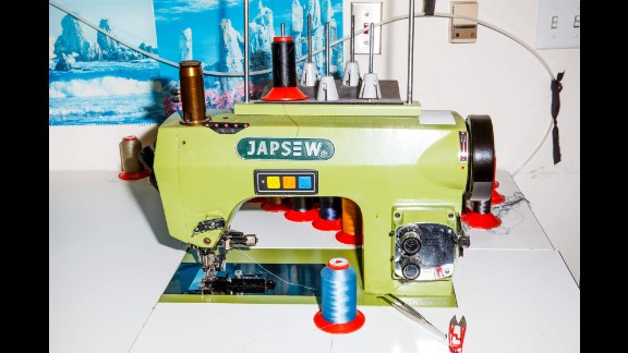 A vibrant sewing machine in Johnathan Behr