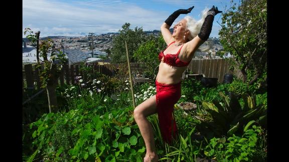 Viva La Fever soaks in the sun from a garden in San Francisco in 2012.