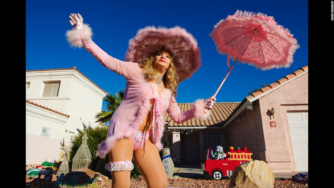 Bambi Jones poses outside a home in Henderson, Nevada, in 2012.