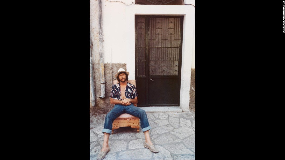 Clapton relaxes on a trip to Greece.