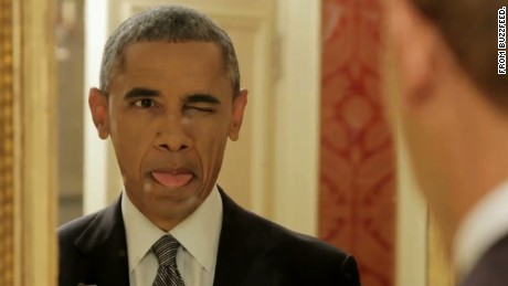 President Obama appeared in a Buzzfeed video.