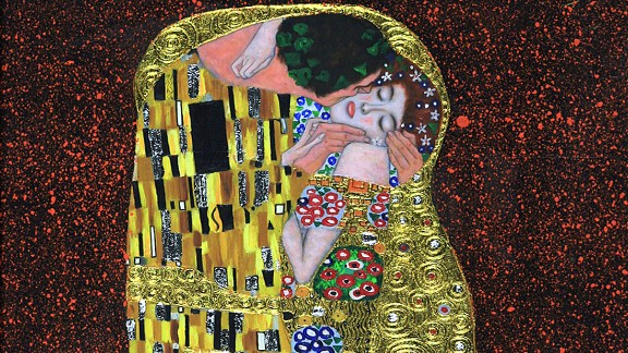 "This painting is notable for its heavy use of gold foil. It was produced at the apex of Klimt's ""golden period""."