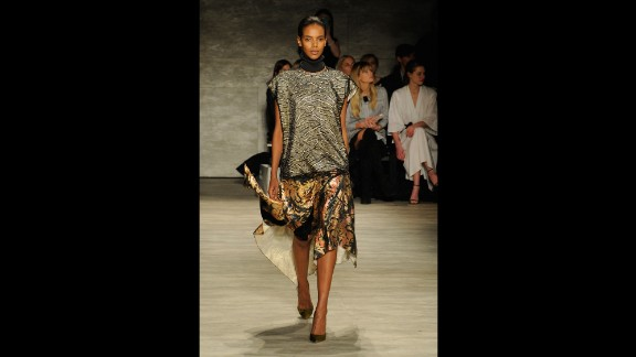 Tome's fall collection was punctuated with metallic prints.