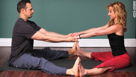 Partner Yoga is about intimately tuning into one another so we can be guided by our partner's breathing and tactile reaction and respond appropriately.