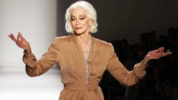 Dell'Orefice still walks the runway at fashion shows. Here she strolled the runway at the Norisol Ferrari Spring 2013 fashion show on September 10, 2012 in New York.