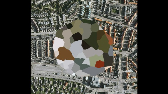 """A """"blurred"""" site in Noordwijk aan Zee, Netherlands, as it was seen on Google Maps. Photographer Mishka Henner used this and other censored Dutch landscapes for an art series."""