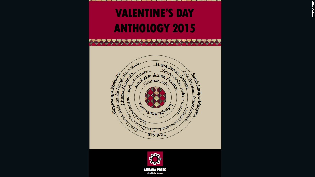 The cover of the anthology released on Valentine's Day by Ankara Press.