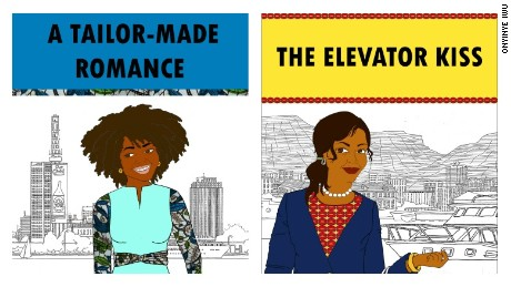 "Two titles by Ankara Press: ""A Tailor-Made Romance,"" by Oyindamola Affinnih and ""The Elevator Kiss,"" by Amara Nicole Okolo."
