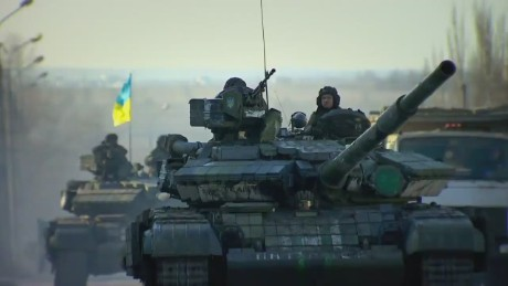 Shelling ahead of ceasefire in Ukraine
