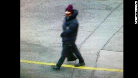 Copenhagen police issued a photo of an individual in connection with Saturday's terror attack. Police is asking the public, via Twitter, for any information on that individual, who appears in the photo as heavily dressed in a thick dark coat and hat.
