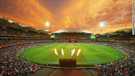 A general view during the 2015 ICC Cricket World Cup match between India and Pakistan at Adelaide Oval on February 15, 2015 in Australia.