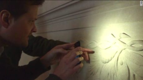 The initials of one of the artists is engraved onto the north wall of the Lincoln Memorial