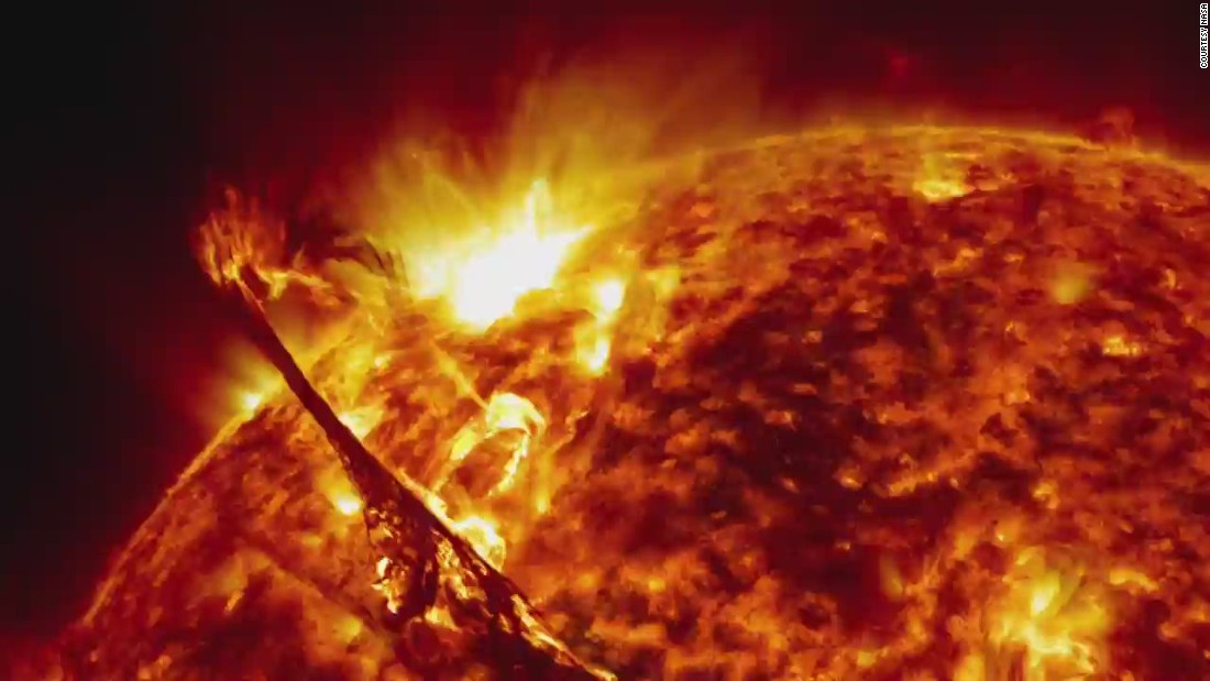 NASA's breathtaking images of the sun