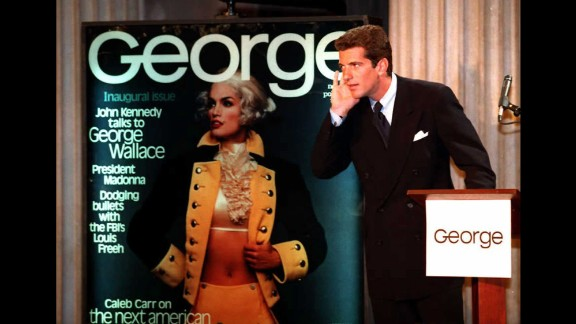 Crawford posed as George Washington on the first cover of John F. Kennedy Jr.